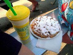 Funnel cake and lemonade