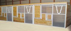 White Legend Stalls with Pine wood fill. Lookin Good!! #classicequine #CEE #besthorsestalls #horselove #equine #nothinglikeaclassic #happyhorse