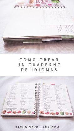 Ideas para aprender un idioma - Crea tu propio cuaderno