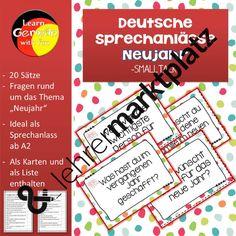 Sprechanlässe zum Thema Neujahr – D.a.F. / D.a.Z., Deutsch