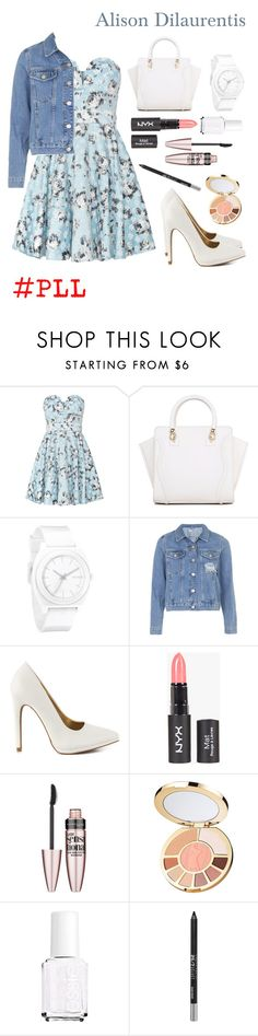 """Alison Dilaurentis"" by horsecrazy33 ❤ liked on Polyvore featuring TFNC, Nixon, Topshop, Qupid, Maybelline, tarte, Essie, Urban Decay, PrettyLittleLiars and pll"