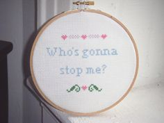 Subversive Snarky Cross Stitch Sampler by valeriestitchery on Etsy, $20.00