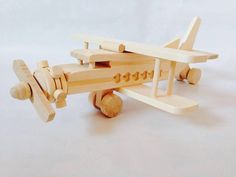 Wooden Airplane Toy by FriendsOfForest on Etsy
