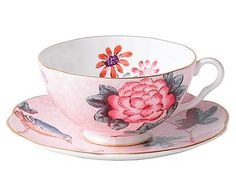 Tasse et sous-tasse CUCKOO, rose - 180mL 35 E COLLECTION CUCKOO