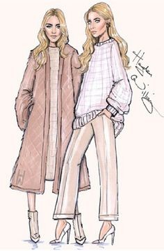 Mary Kate and Ashley Olsen by Hayden Williams
