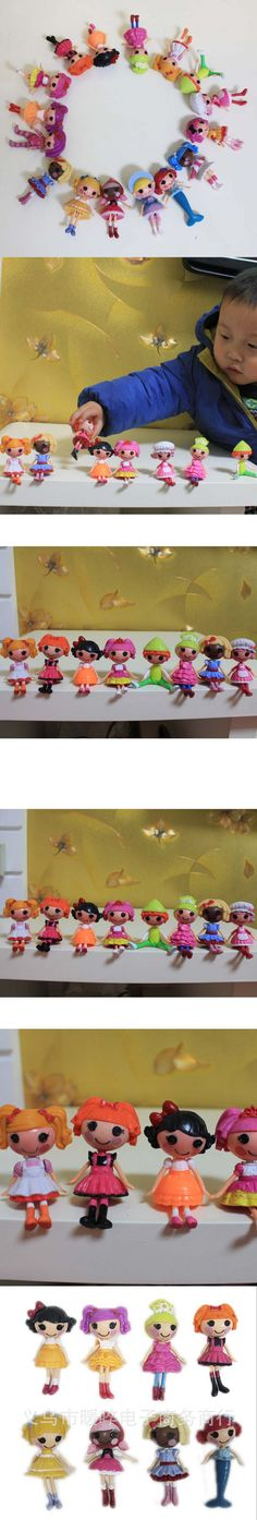 2016 New button eyes mini Lalaloopsy dolls, kid child birthday gift, play house toys, action figure girls brinquedos