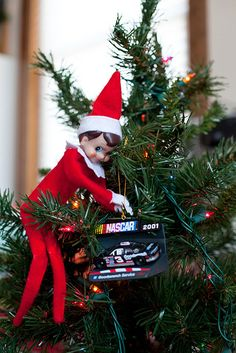 Day 9 by beatrice.killam, via Flickr  Elf  Likes hanging ornaments!