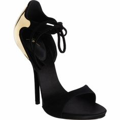 Giuseppe Zanotti Plated Heel Tie-Front Sandal - I really want these heels