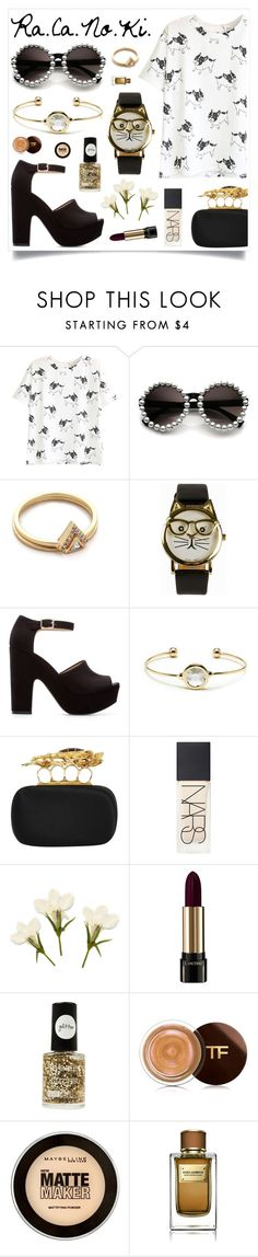 """Hope For You"" by racanoki ❤ liked on Polyvore featuring Gorjana, JFR, Zara, Sole Society, Alexander McQueen, NARS Cosmetics, Lancôme, Tom Ford, Maybelline and Dolce&Gabbana"