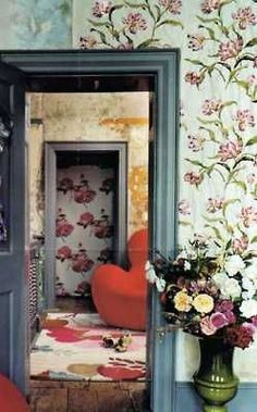 Image result for mixing wallpapers in one room