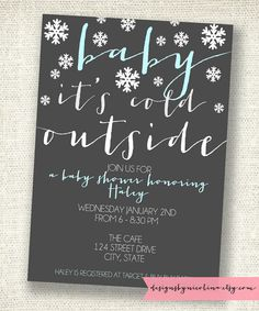 winter wonderland snowflake baby shower party ideas | snowflake, Baby shower invitations