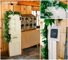 These two tied the knot at the BWB Ranch in Laporte, MN. This new barn venue is absolutely gorgeous! Vendors  Venue: BWB Ranch Photographer: Jeannine Marie Photography Videographer: Complete Video Florist: KD Floral Caterer: Bemidji Town & Country Club Bartender: Lucky Moose Dessert: Rother's Just Dessert DJ/Photobooth: Ntertainment Stationery Printer: Ink Spot Press Bridal Gown: Monique Cleary DIY, card box, unique wedding ideas, vintage door, garland, door slot, BWB Ranch