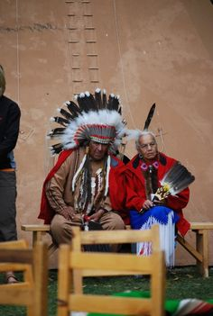 First nations couple at Fort Edmonton