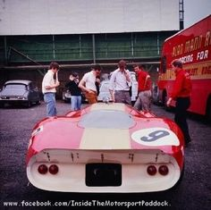 1968 Spa Francorchamps, 1000 km, paddock, Alan Mann Racing with the Ford F3L P68 #002 or 003 nr9 (Gardner-Hahn) dnf