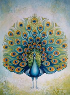 Fun example of basic shapes and values to create this peacock. By Elena Oleniuc Group: Abstract and Semi-Abstract Art.