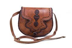 Messenger leather bag womens handbag purse shoulder bag by fezart