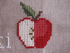 Thrilling Designing Your Own Cross Stitch Embroidery Patterns Ideas. Exhilarating Designing Your Own Cross Stitch Embroidery Patterns Ideas. Cross Stitch Fruit, Cross Stitch Kitchen, Cross Stitch Boards, Mini Cross Stitch, Cross Stitching, Cross Stitch Embroidery, Embroidery Patterns, Crochet Cross, Filet Crochet