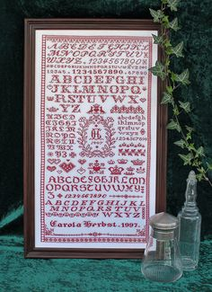 Cross Stitch Sampler No. 7 - PDF Pattern. €6,00, via Etsy.