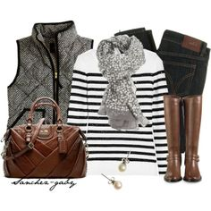 """""""Stripes & Sequins"""" by sanchez-gaby on Polyvore"""