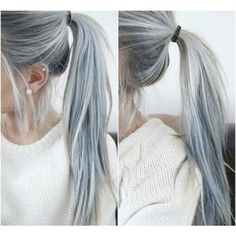 Who loves this ponytail colour? #ponytail #haircolour #silverhair #greyhair #longhair #hairtrend #hairfashion #hairofinstagram #hairoftheday