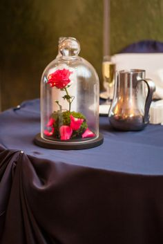 Beauty and the Beast-inspired Rose Centerpiece | Valen Photo Design | Theknot.com