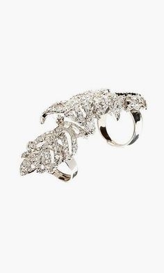 Full Finger Ring Bespoke Designer Ring Abstract Silver Ring Catwalk Ring Armour Ring Art Nouveau Ring Bendable Ring Fashion Ring