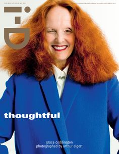 "The new I-D cover has been ""Graced"" by everyone's favorite Vogue sweetheart Ms Grace Coddington"
