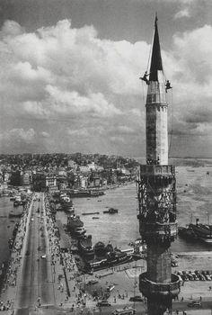 1957, Galata Bridge (#AraGüler) #istanbul #istanlook