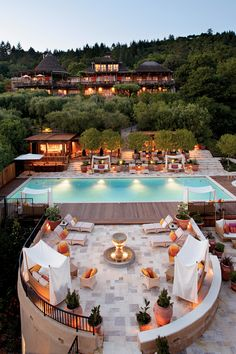 Auberge du Soleil Hotel in Napa, California...a day of tasting wine followed by a night relaxing here