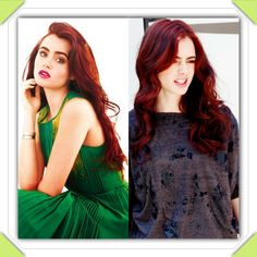 Lily Collins- red hair- love the color. I'm so doing it.