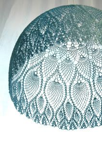 maillo: Les Produits MaillO Great idea for light cover - no one wants doilies these days so this makes a great recycle