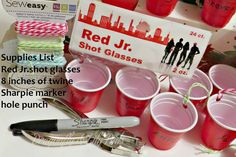http://www.dragonflyandlilypads.com/2014/12/red-solo-cup-ornaments.html Supply list