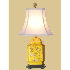 "Porcelain Jar Table Lamp 25""h"