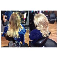 Hair makeover, before and after