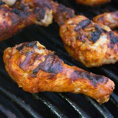 Grilled Tandoori Chicken - easy to make with 5-10 minutes prep work