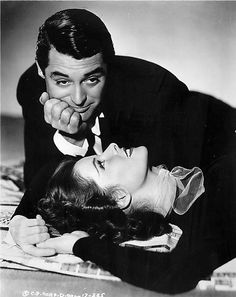"Cary Grant and Katharine Hepburn in ""Holiday"", 1938."