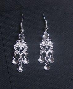 Ingvild - Lovely Traditional Norwegian Solje Style Heart Chandelier Earrings with Silver Drops Etsy