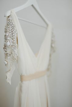 wedding dress beaded details.