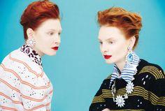 Dani Witt, Dasha Gold, Lera Tribel by Erik Madigan Heck for Harper's Bazaar UK August 2015 - Miu Miu Fall 2015