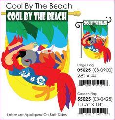 """Cool By the Beach Garden Flag Indoor/outdoor 13.5"""" X 18"""" . $12.99"""