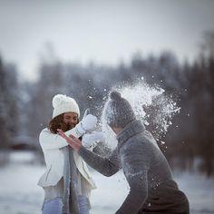 winter love-story, snow