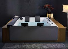 Luxury Large Whirlpool Bathtubs For Two Thais Art By Blubleu ... Whirlpool Badewanne Thais Art