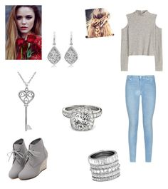 """""""Gray"""" by melaniecade on Polyvore featuring WithChic, 7 For All Mankind, Henri Bendel, Amanda Rose Collection, Allurez, women's clothing, women's fashion, women, female and woman"""