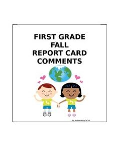 21 comments, which are thorough and reflective of children with various skills in the fall of first grade.  Parents appreciate the deep thought that goes into each comment. Save 20% on this and my report card comments for the rest of the year by purchasing the BUNDLE: First Grade Report Card Comments BUNDLE