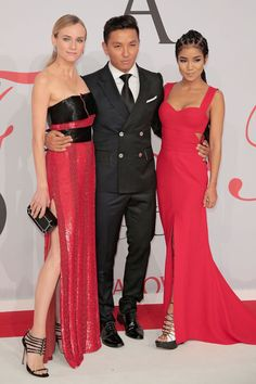 Red Carpet | CFDA Awards 2015 - Diane Kruger e Jhene Aiko com Prabal Gurung