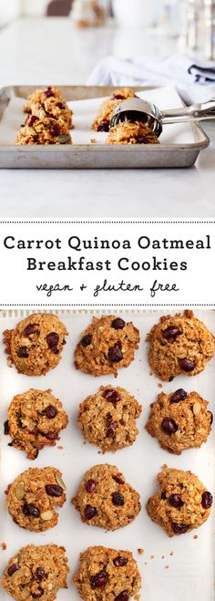 Carrot Quinoa Oatmeal Breakfast Cookies Recipe