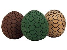 """A Game of Throne 7"""" Plush Dragon Egg - Set of 3 - A Game of Thrones / A Song of Ice & Fire Plush"""