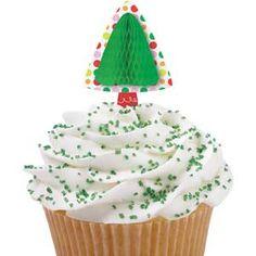 Christmas cupcake pick