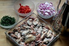 Μυδοπίλαφο - υλικά Lent, Stuffed Mushrooms, Cakes, Chicken, Vegetables, Cooking, Food, Cucina, Veggies