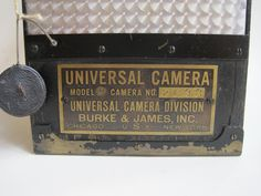 Burke & James Universal Cine Motion Picture Camera Vintage Cameras, Marshall Speaker
